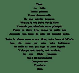 Caligrama Triángulo armónico