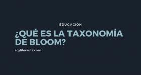 que es la taxonomía de bloom